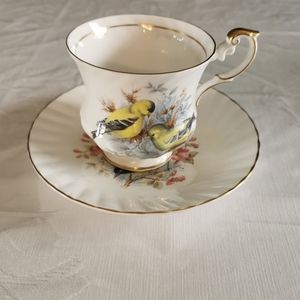 Queens Rosina China Co Ltd Footed Teacup & Saucer